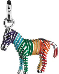 Links of London - Sterling Silver Rainbow Zebra Charm - Lyst