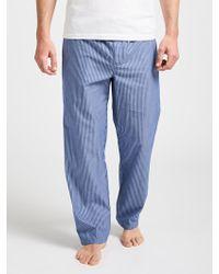 John Lewis - Poplin Stripe Lounge Trousers - Lyst