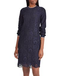 Ralph Lauren - Lauren Yaritza Floral Lace Dress - Lyst