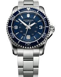 Victorinox - 241602 Men's Swiss Army Maverick Stainless Steel Bracelet Strap Watch - Lyst