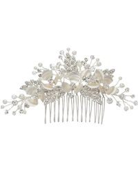 Ivory & Co. | Passionflower Crystal And Faux Pearl Flower Hair Slide | Lyst