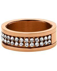 Dyrberg/Kern - Fratianne Rose Gold Plated Swarovski Crystal Ring - Lyst