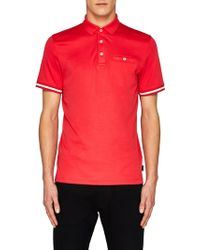 Ted Baker | Puggle Cuff Stripe Polo Shirt | Lyst