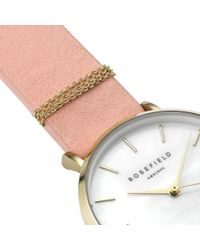 John Lewis - Rosefield Wbpg-w72 Women's The West Village Leather Strap Watch - Lyst