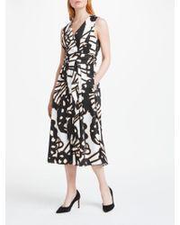 Marc Cain - Printed Cotton Midi Dress - Lyst
