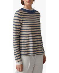 Toast - Swingy Linen Wool Striped Jumper - Lyst