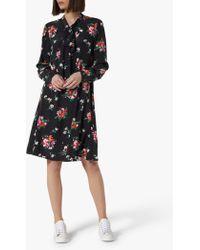 L.K.Bennett - Lotte Floral Tie Neck Silk Dress - Lyst