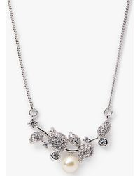 Ivory & Co. - Verona Cubic Zirconia And Pearl Cluster Necklace - Lyst