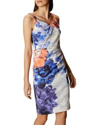 John Lewis - Floral Sheath Dress - Lyst