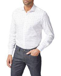 Simon Carter - Number Jacquard Slim Fit Shirt - Lyst