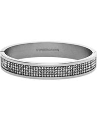 Dyrberg/Kern - Heli Silver Swarovski Bangle - Lyst
