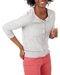 White Stuff - Palm Cotton Button Cardigan - Lyst