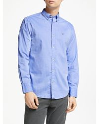GANT - Herringbone Regular Fit Shirt - Lyst