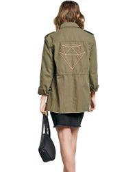 John Lewis - Hush Longline Embroidered Military Jacket - Lyst