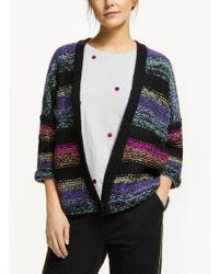 Numph - Ilka Knit Colour Block Cardigan - Lyst