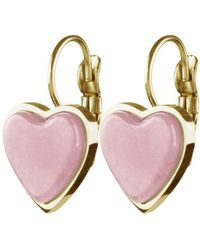 Dyrberg/Kern - Carita Quartz Heart Drop Earrings - Lyst