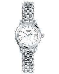 Longines - L42744126 Women's Flagship Automatic Date Bracelet Strap Watch - Lyst