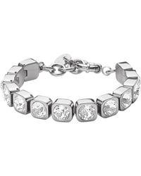 Dyrberg/Kern | Dyrberg/kern Conian Swarovski Crystal Silver Tennis Bracelet | Lyst