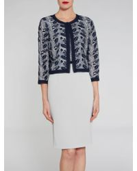 John Lewis - Gina Bacconi Crepe And Sequin Mesh Dress And Jacket - Lyst