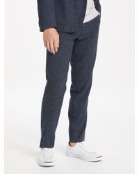J.Lindeberg | Hopper Vernon Slim Fit Melange Suit Trousers | Lyst