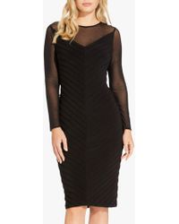 Adrianna Papell - Mitered Pintuck Dress - Lyst