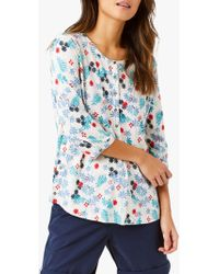 Print Linen Tunic Lyst Blue Stuff In White Indo Floral rQExoCeWdB
