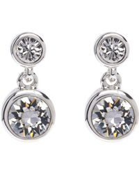 a8d1ded03 Finesse Swarovski Crystal Chain Drop Clip On Earrings Silver Best. Finesse  Swarovski Crystal Diamond Shaped Clip On Earrings Silver Rhodium Plated  Sterling ...