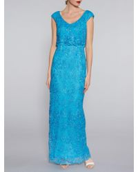 John Lewis - Gina Bacconi Embroidered Corded Mesh Maxi Dress - Lyst
