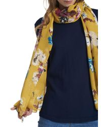 Joules - Wensley Posy Print Scarf - Lyst