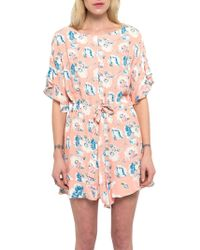 French Connection - Cari Frill Playsuit - Lyst