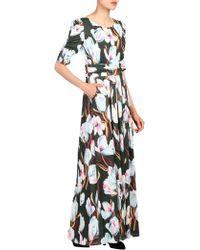 Jolie Moi - Floral Print Half Sleeve Maxi Dress - Lyst