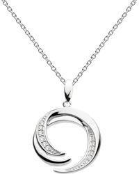Kit Heath - Sterling Silver Twine Helix Twist Pendant Necklace - Lyst