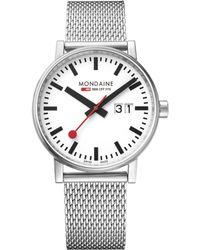 Mondaine - Mse.40210.sm Unisex Evo 2 Date Mesh Bracelet Strap Watch - Lyst
