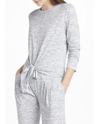 John Lewis - Space Dye Long Sleeve Knot Front Pyjama Top - Lyst