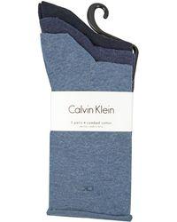 Calvin Klein - Roll Top Crew Socks - Lyst