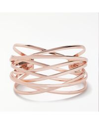 John Lewis - Rose Wire Cuff - Lyst