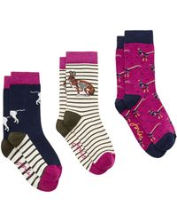 Joules - Brill Bamboo Animal Christmas Ankle Socks - Lyst