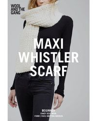 Wool And The Gang - Maxi Whistler Scarf Knitting Pattern - Lyst