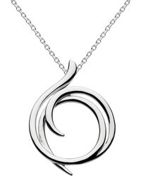Kit Heath - Sterling Silver Cubic Zirconia Helix Wrap Necklace - Lyst