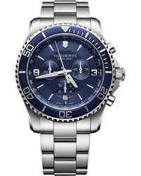 Victorinox - Men's Chronograph Maverick Stainless Steel Bracelet Watch 43mm 241689 - Lyst