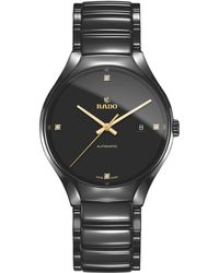 Rado - R27056712 Unisex True Diamond Ceramic Bracelet Strap Watch - Lyst