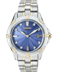 Citizen - Ew1936-53l Women's Silhouette Diamond Mother Of Pearl Two Tone Bracelet Strap Watch - Lyst