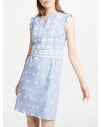 Boden Sierra Textured Dress In Blue Lyst