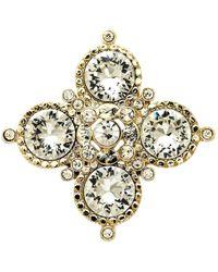 Monet - Crystal Medal Brooch - Lyst