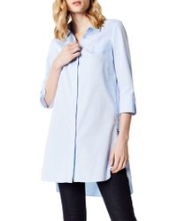 Karen Millen - Long Tunic Shirt - Lyst
