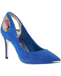 24fe390a9 Ted baker Monirra Pointed Court Shoes in Blue