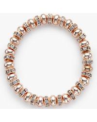 John Lewis - Glass Pave Bead Stretch Bracelet - Lyst