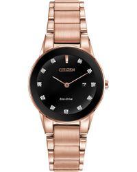 Citizen - Women's Axiom Date Diamond Bracelet Strap Watch - Lyst