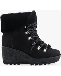 99f0e6336e2 J.Crew - Nordic Lace Up Wedge Ankle Boots - Lyst