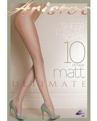 Aristoc - 10 Denier Ultimate Matte Tights - Lyst